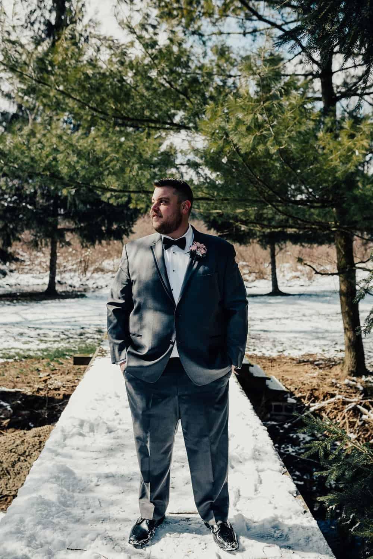 SNOWY OHIO BARN WEDDING | JOSH + HANNAH 31