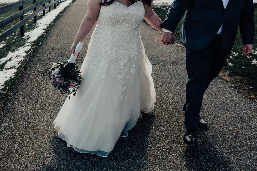 SNOWY OHIO BARN WEDDING | JOSH + HANNAH 37