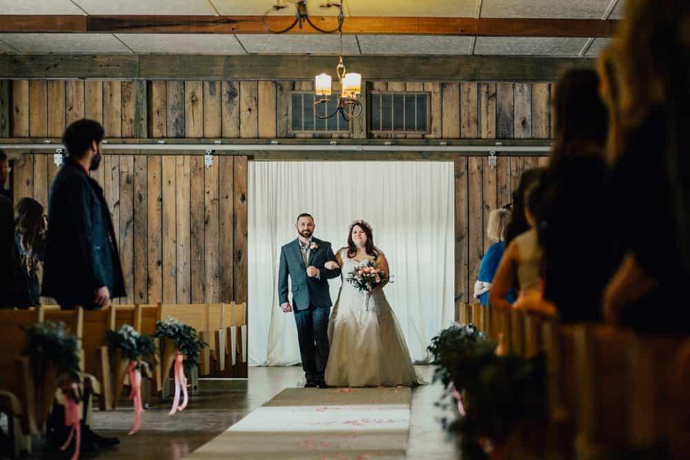 SNOWY OHIO BARN WEDDING | JOSH + HANNAH 42