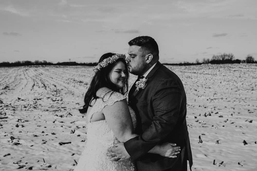SNOWY OHIO BARN WEDDING | JOSH + HANNAH 48