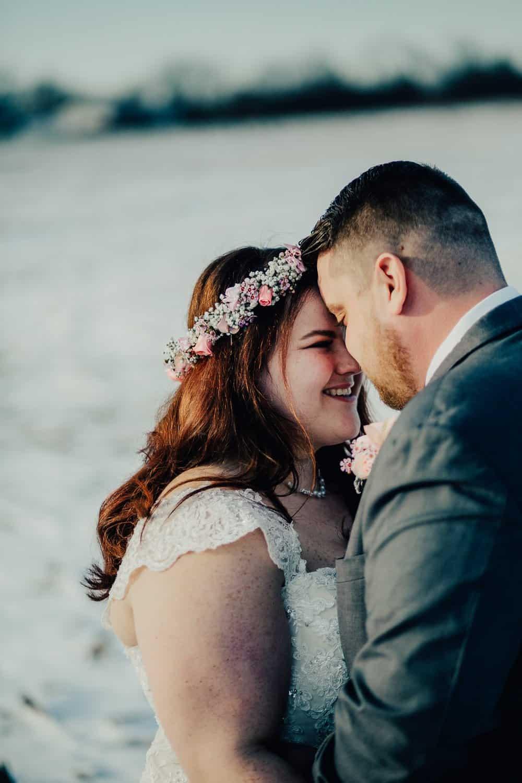 SNOWY OHIO BARN WEDDING | JOSH + HANNAH 49