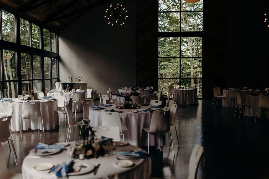 Wedding tables at Sapphire Creek Winery