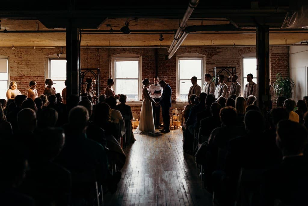 Ceremony in a OHIO WEDDING VENUES
