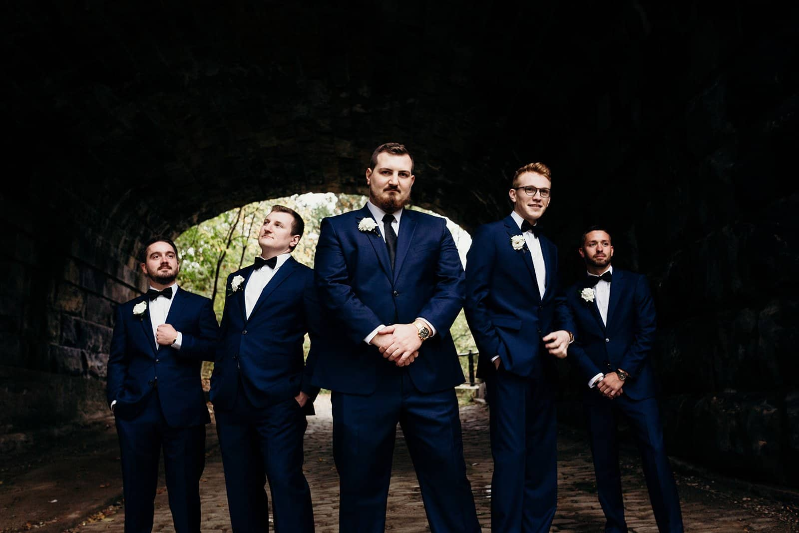 groomsman pose for bridal party photos