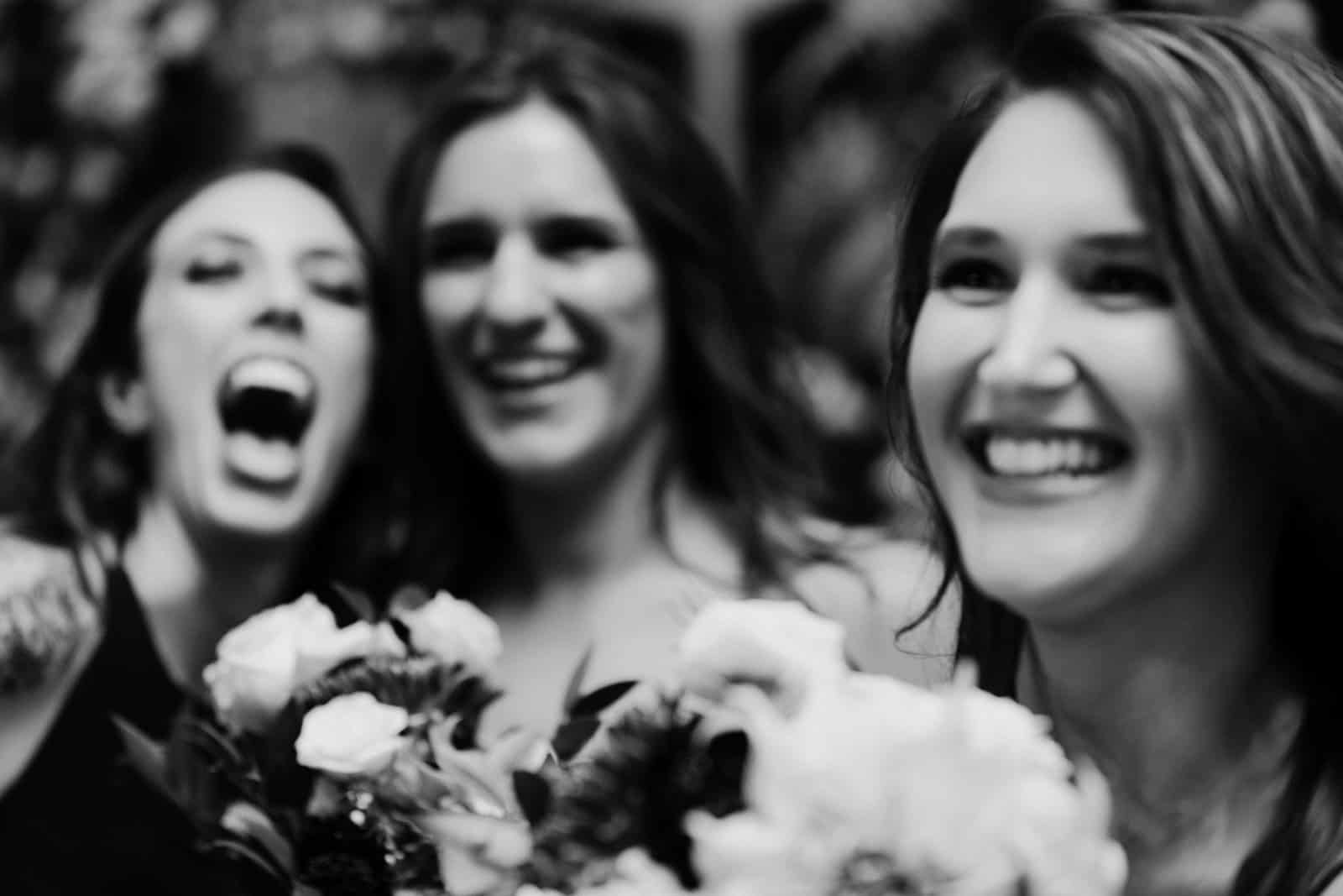3 women smile and laugh