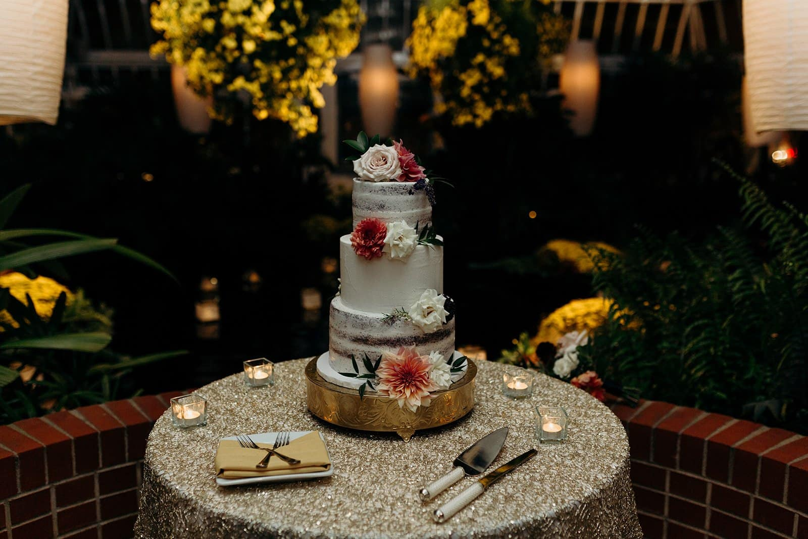 Wedding cake at a Phipps Conservatory Wedding