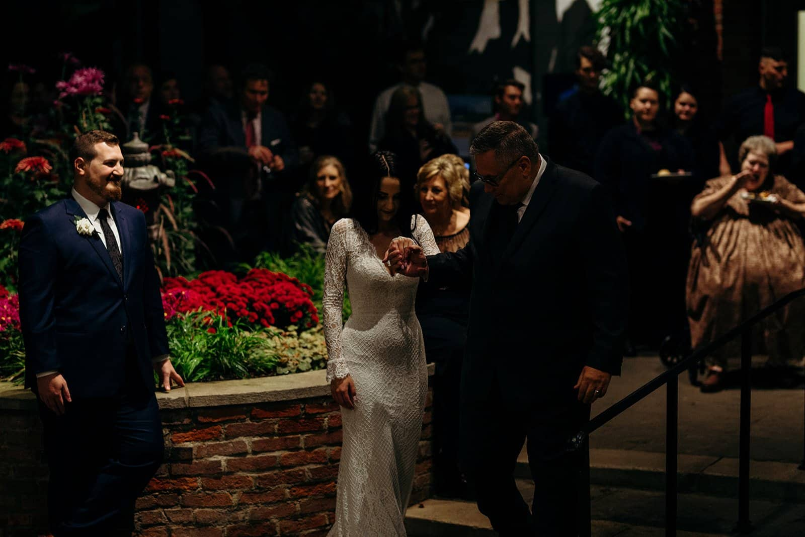 Father leads bride to the dance floor