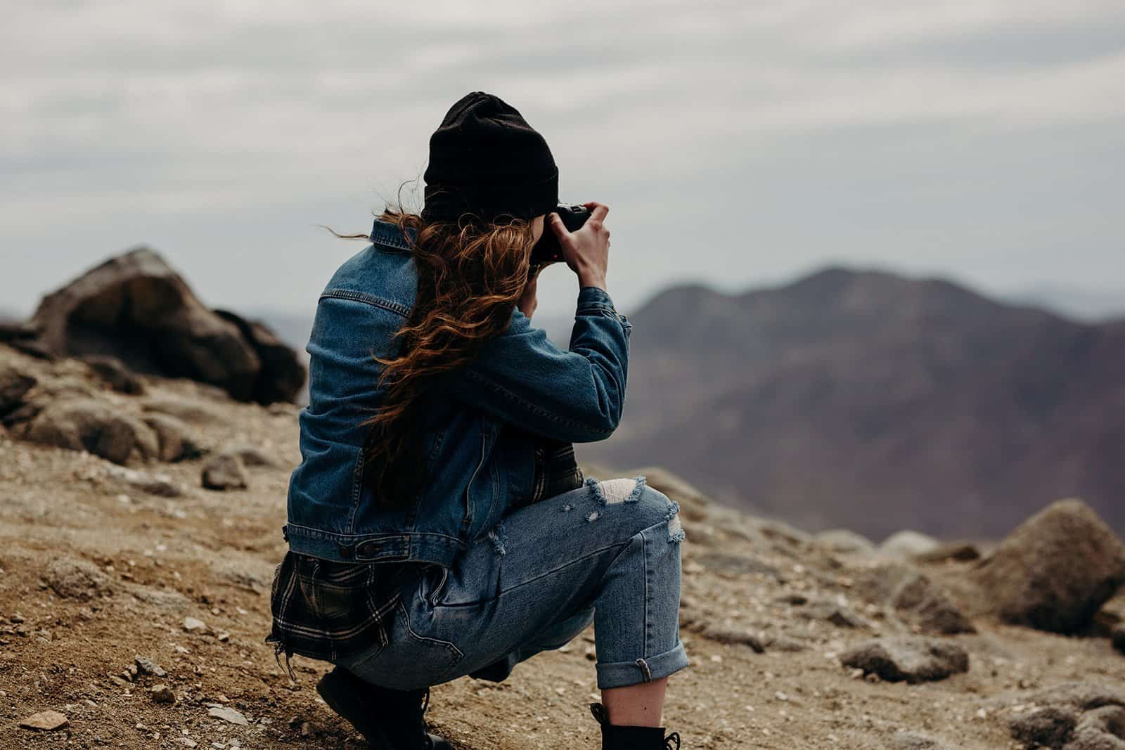 photographer taking photo of Keys View in Joshua Tree National Park