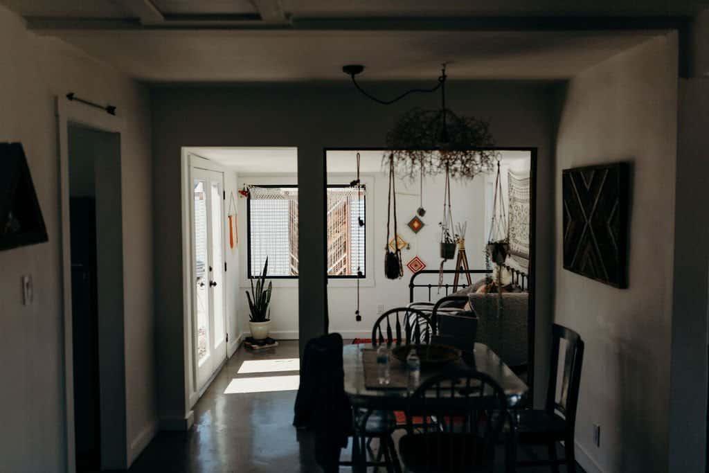 room of a bohemian Joshua Tree airbnb