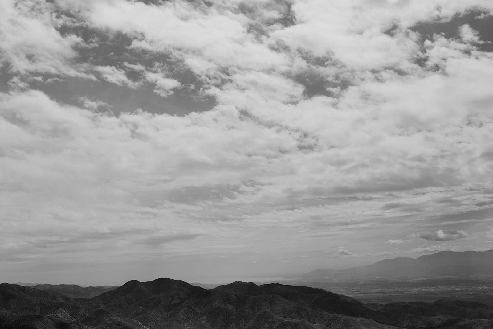 landscape from keys view overlook in Joshua Tree National Park
