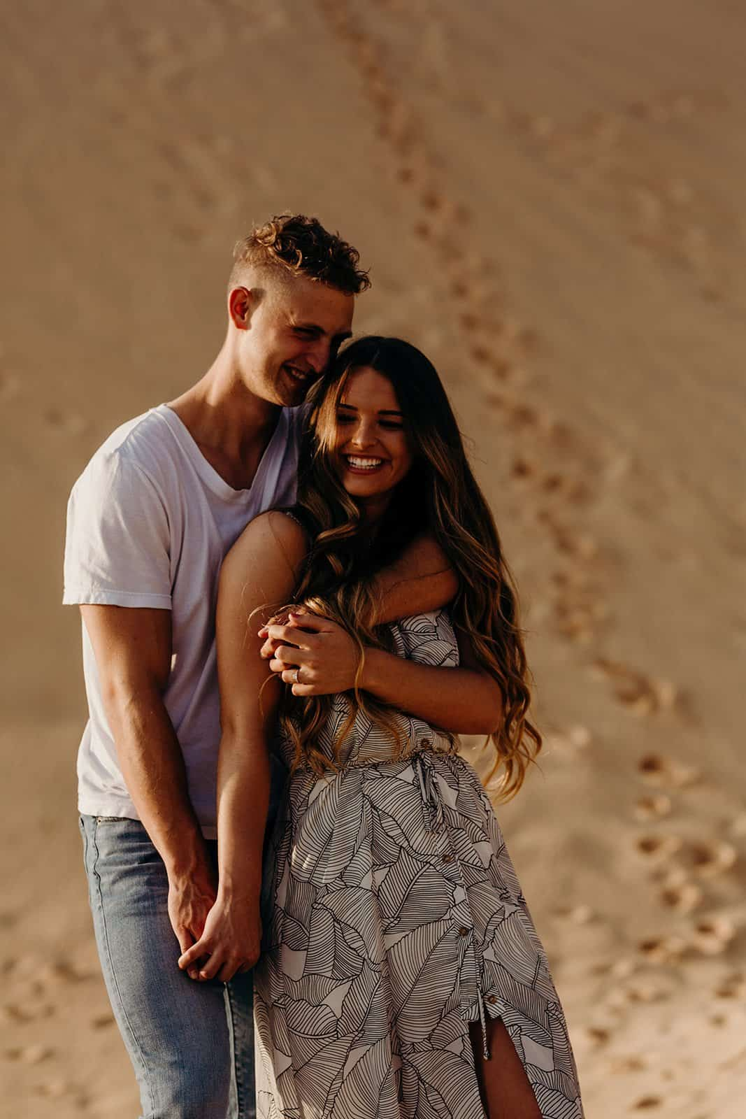 Ohio Sand Dunes Engagement | Addison + Morgan 186