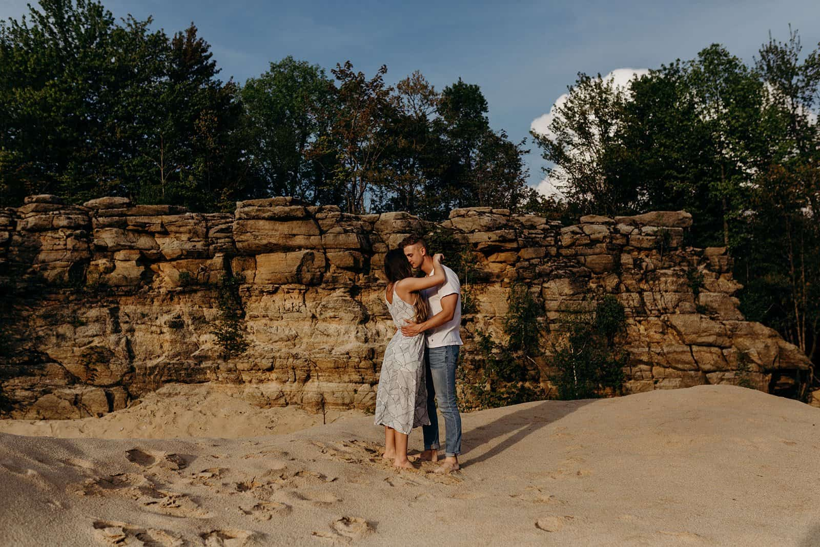 Ohio Sand Dunes Engagement | Addison + Morgan 187