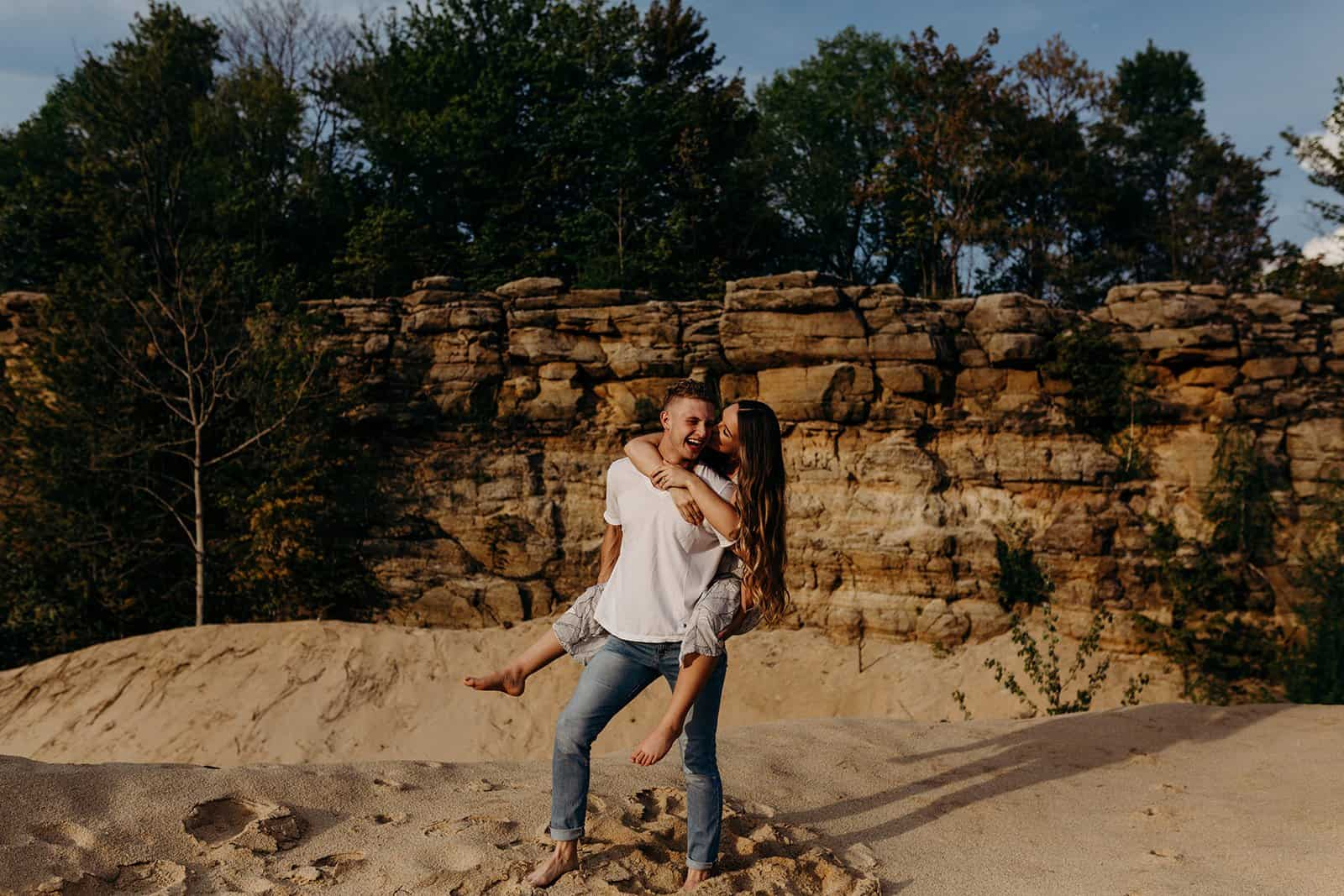 Ohio Sand Dunes Engagement | Addison + Morgan 188