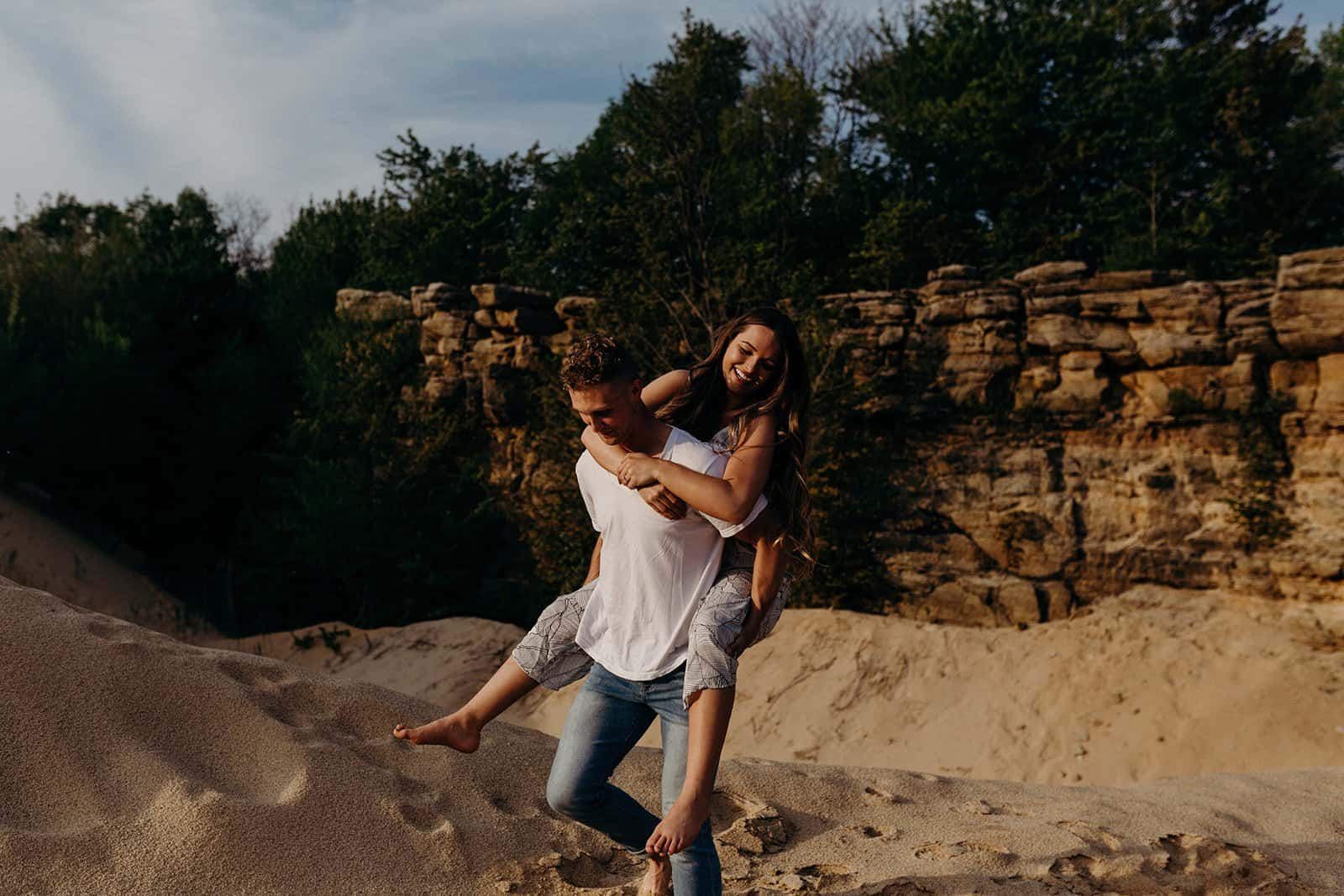 Ohio Sand Dunes Engagement | Addison + Morgan 189