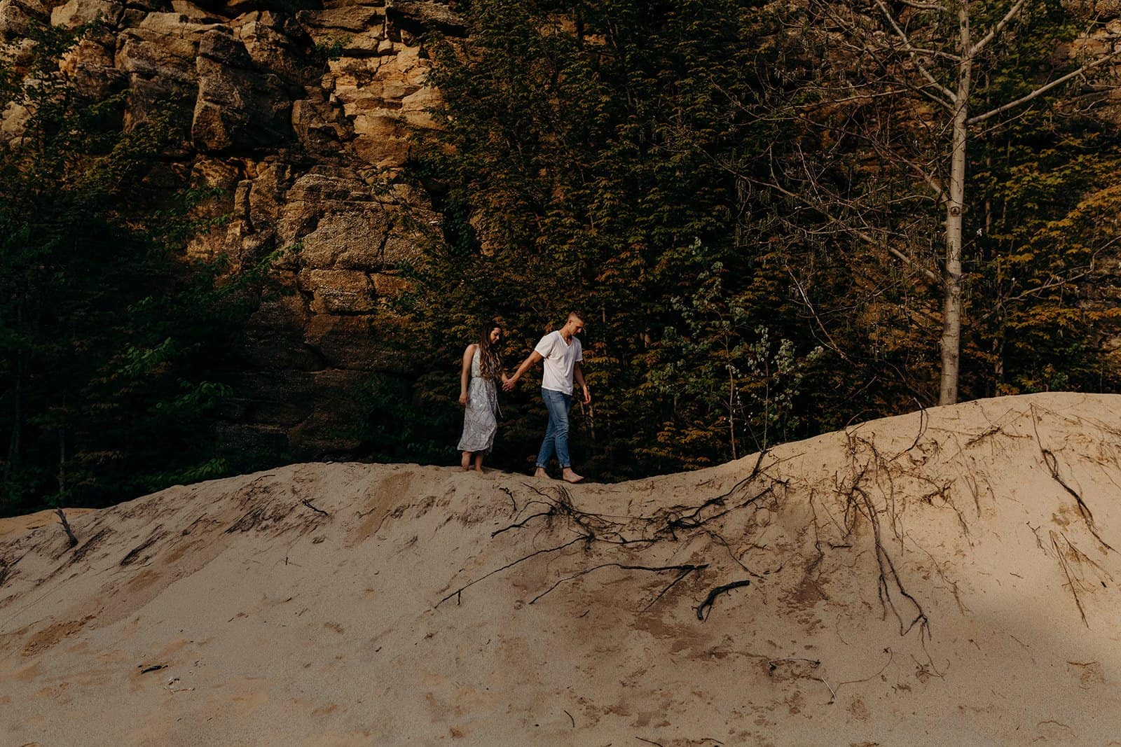 Ohio Sand Dunes Engagement | Addison + Morgan 194