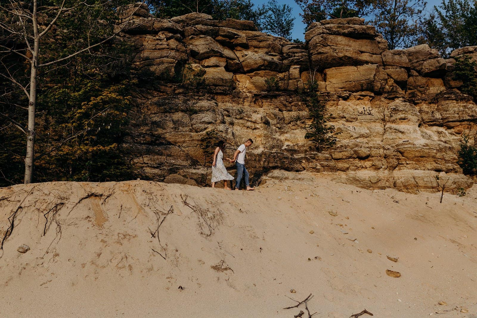 Ohio Sand Dunes Engagement | Addison + Morgan 195