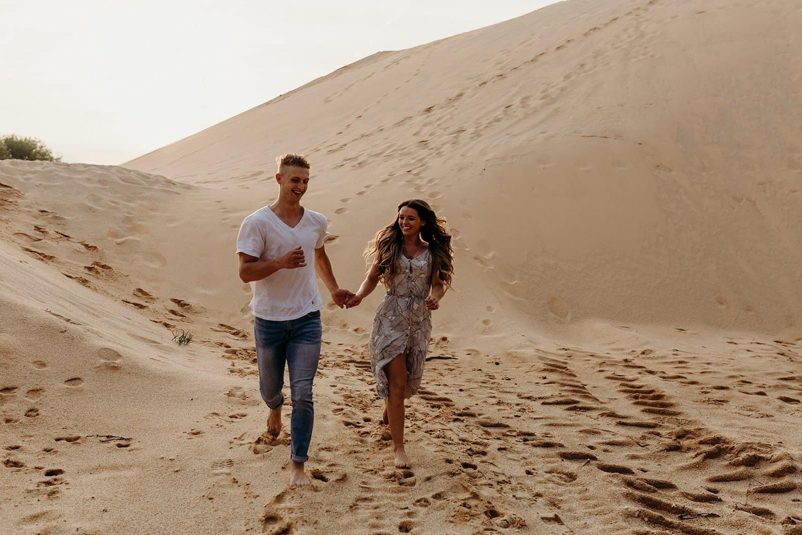 Ohio Sand Dunes Engagement | Addison + Morgan 205