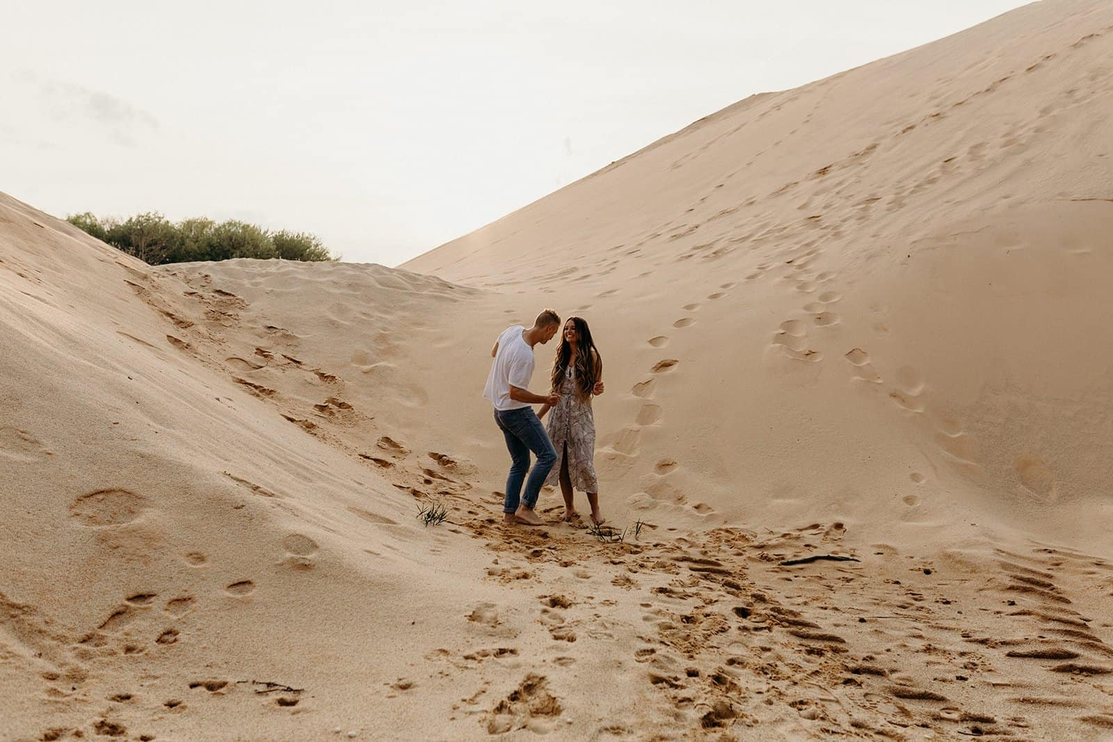 Ohio Sand Dunes Engagement | Addison + Morgan 206
