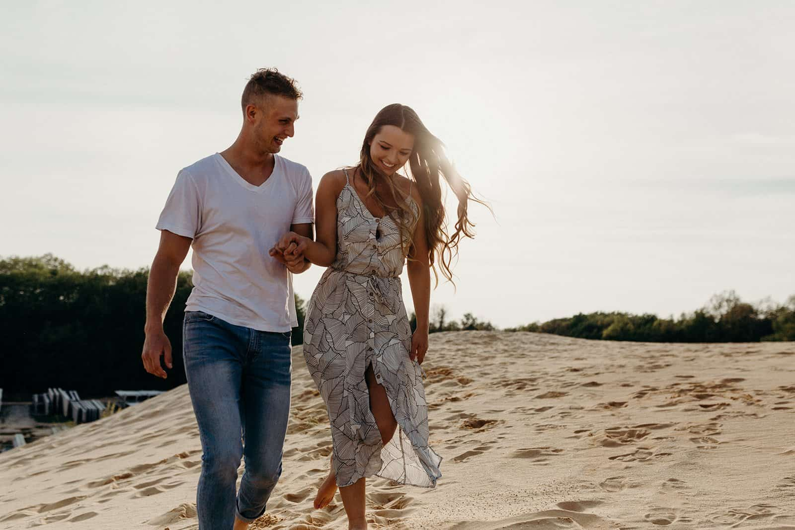 Ohio Sand Dunes Engagement | Addison + Morgan 153