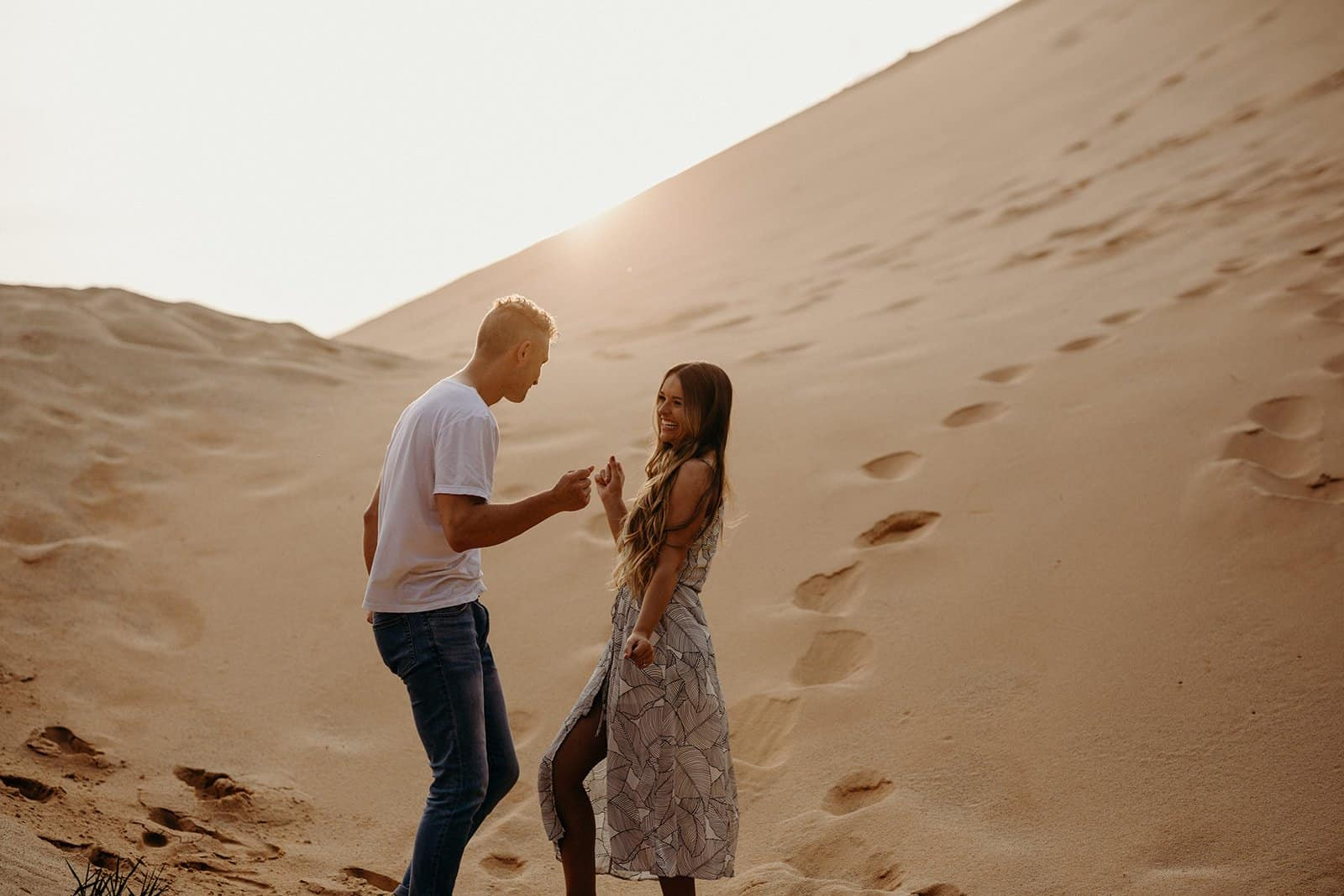 Ohio Sand Dunes Engagement | Addison + Morgan 209