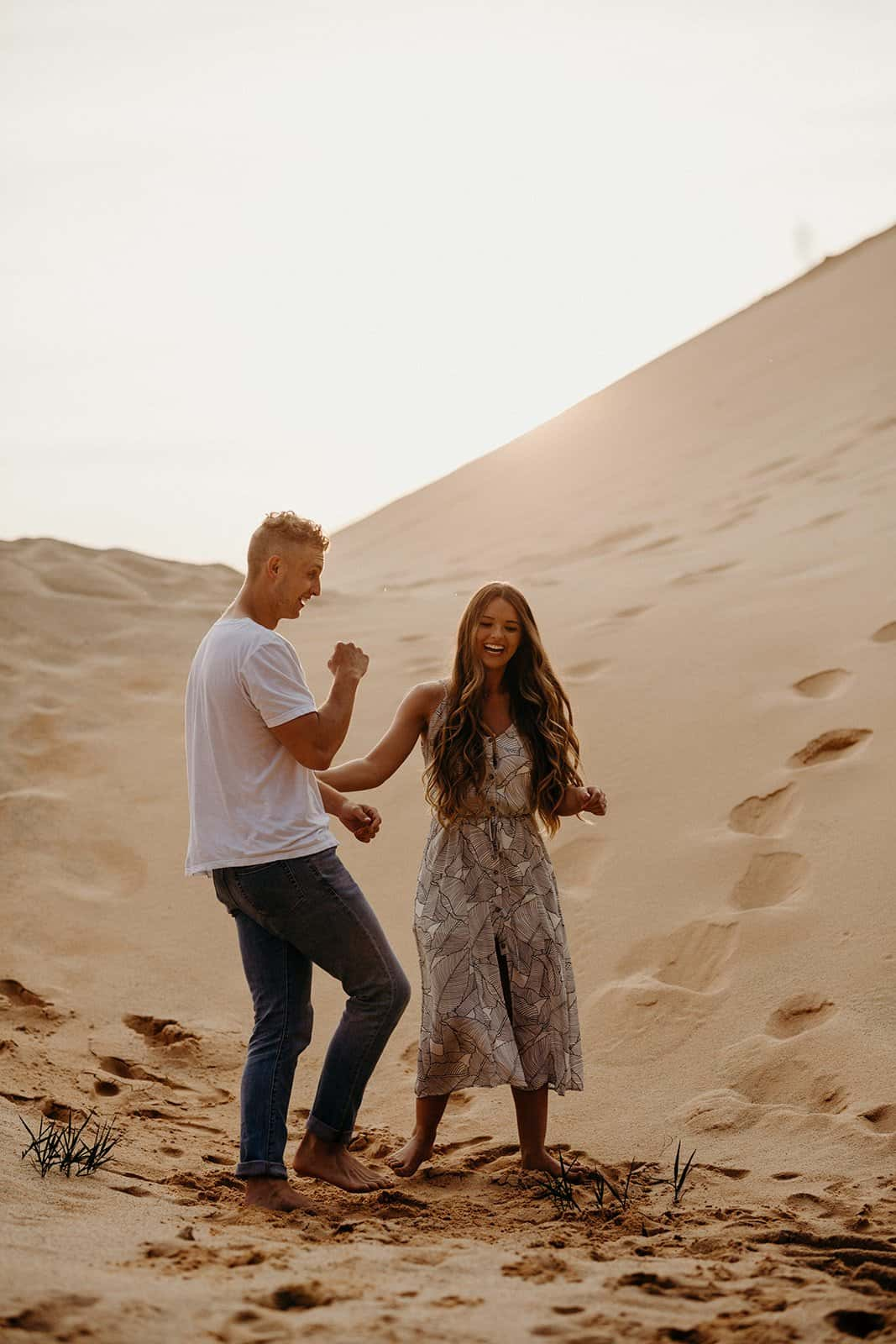 Ohio Sand Dunes Engagement | Addison + Morgan 210