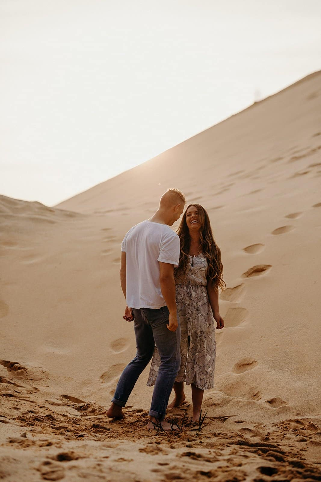 Ohio Sand Dunes Engagement | Addison + Morgan 211