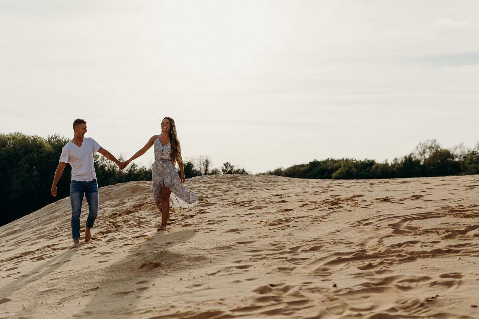 Ohio Sand Dunes Engagement | Addison + Morgan 149