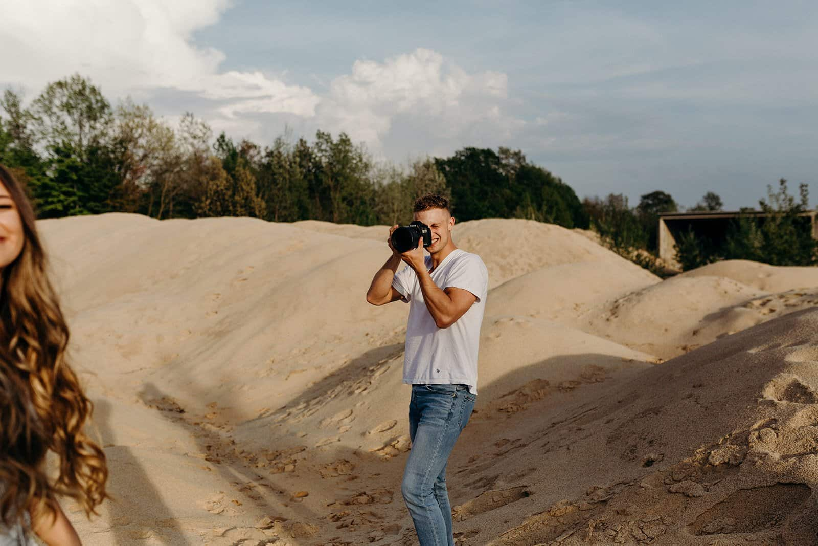 Ohio Sand Dunes Engagement | Addison + Morgan 160
