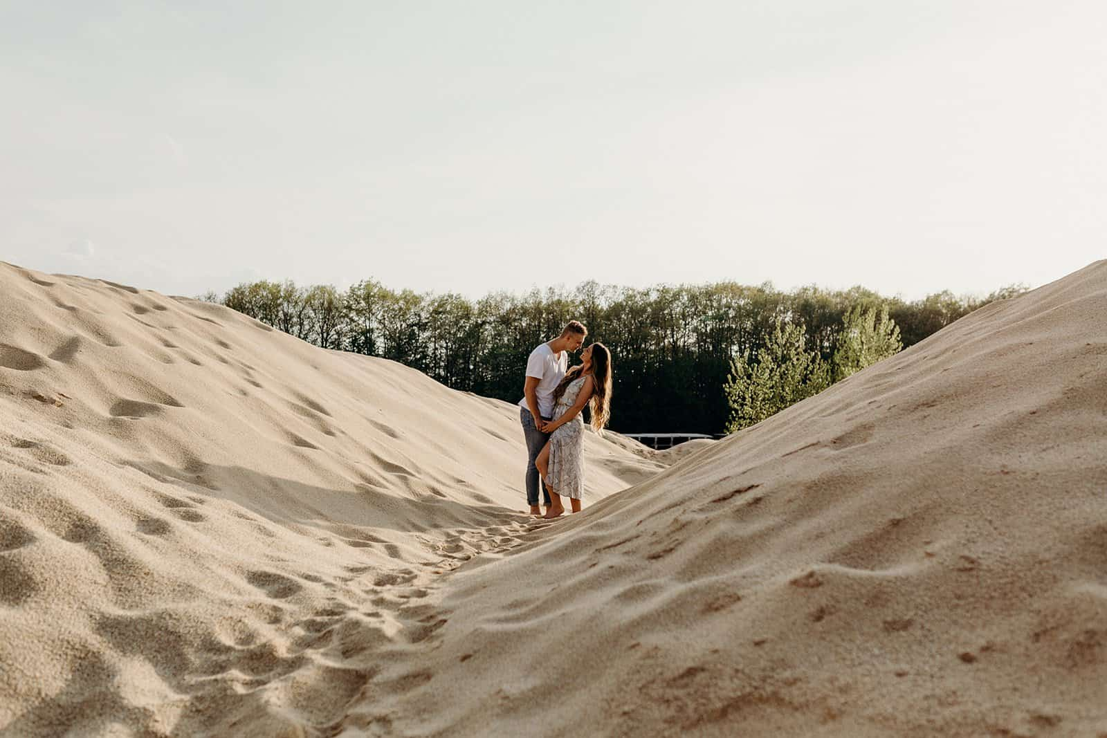 Ohio Sand Dunes Engagement | Addison + Morgan 164