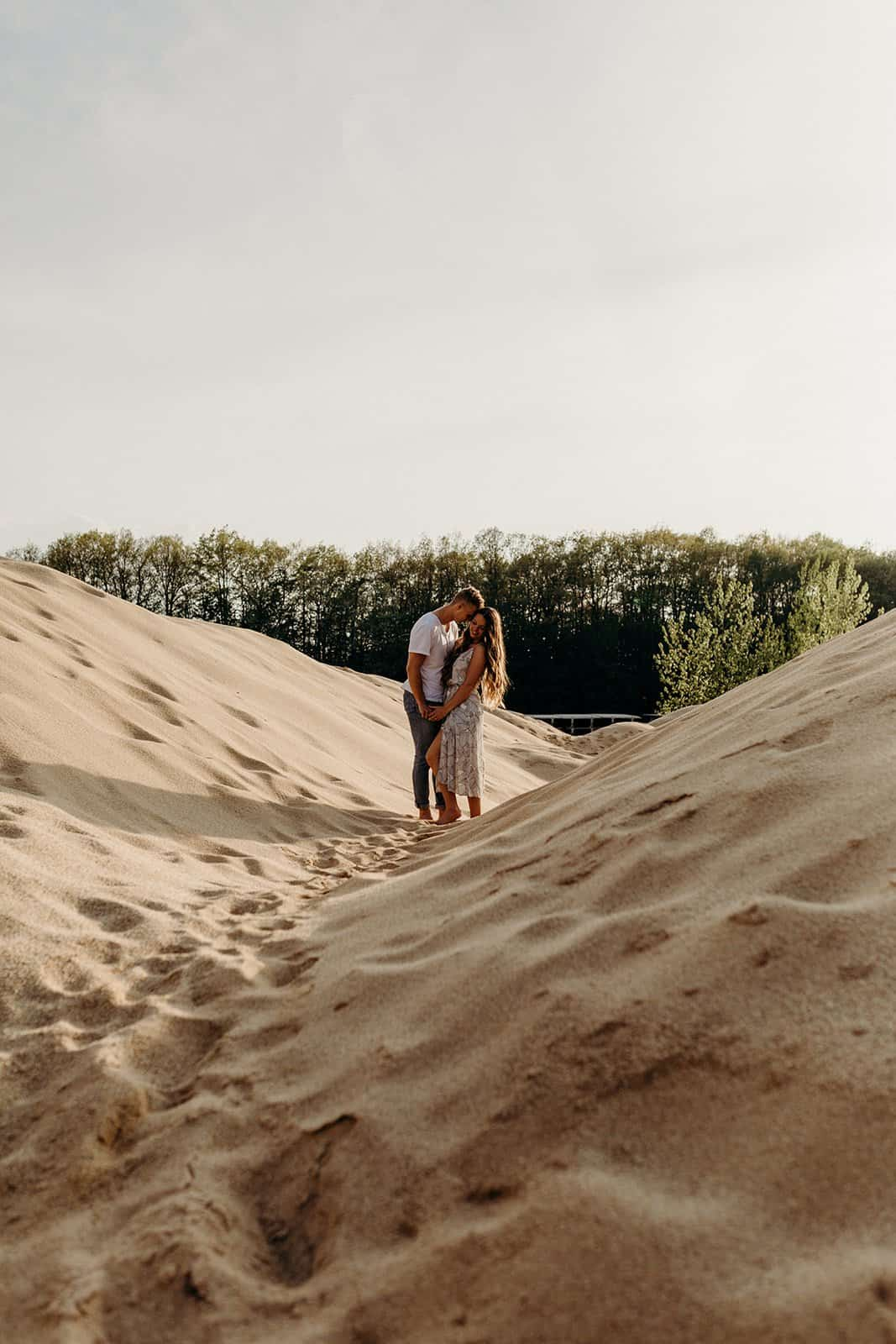 Ohio Sand Dunes Engagement | Addison + Morgan 165