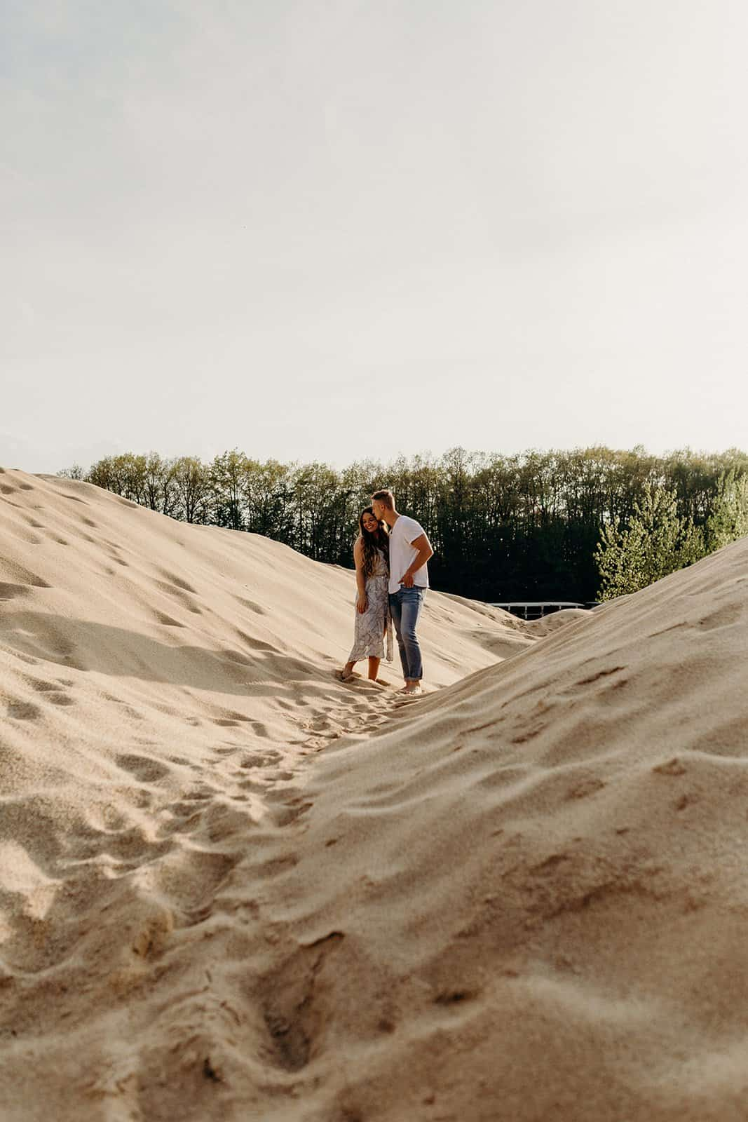 Ohio Sand Dunes Engagement | Addison + Morgan 166