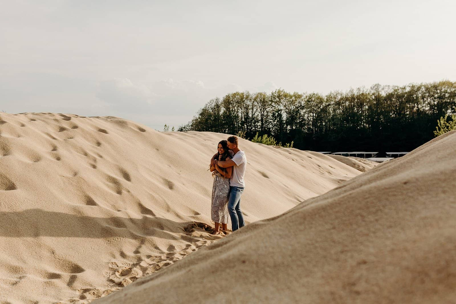 Ohio Sand Dunes Engagement | Addison + Morgan 167