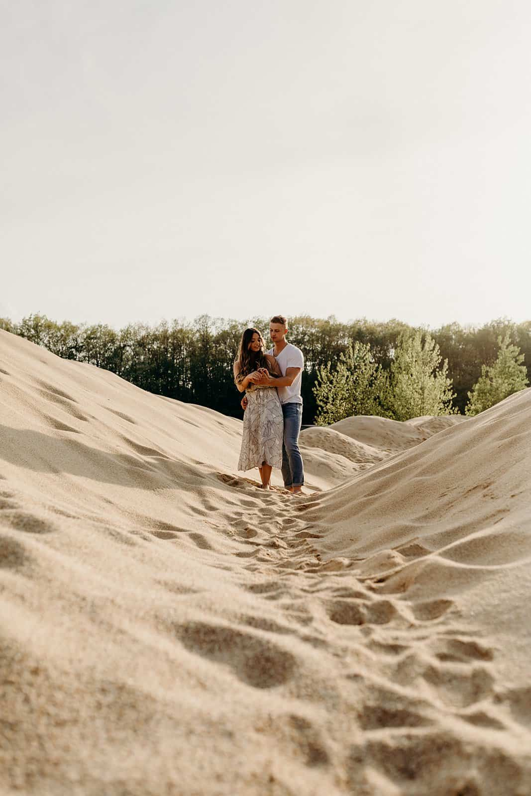 Ohio Sand Dunes Engagement | Addison + Morgan 168