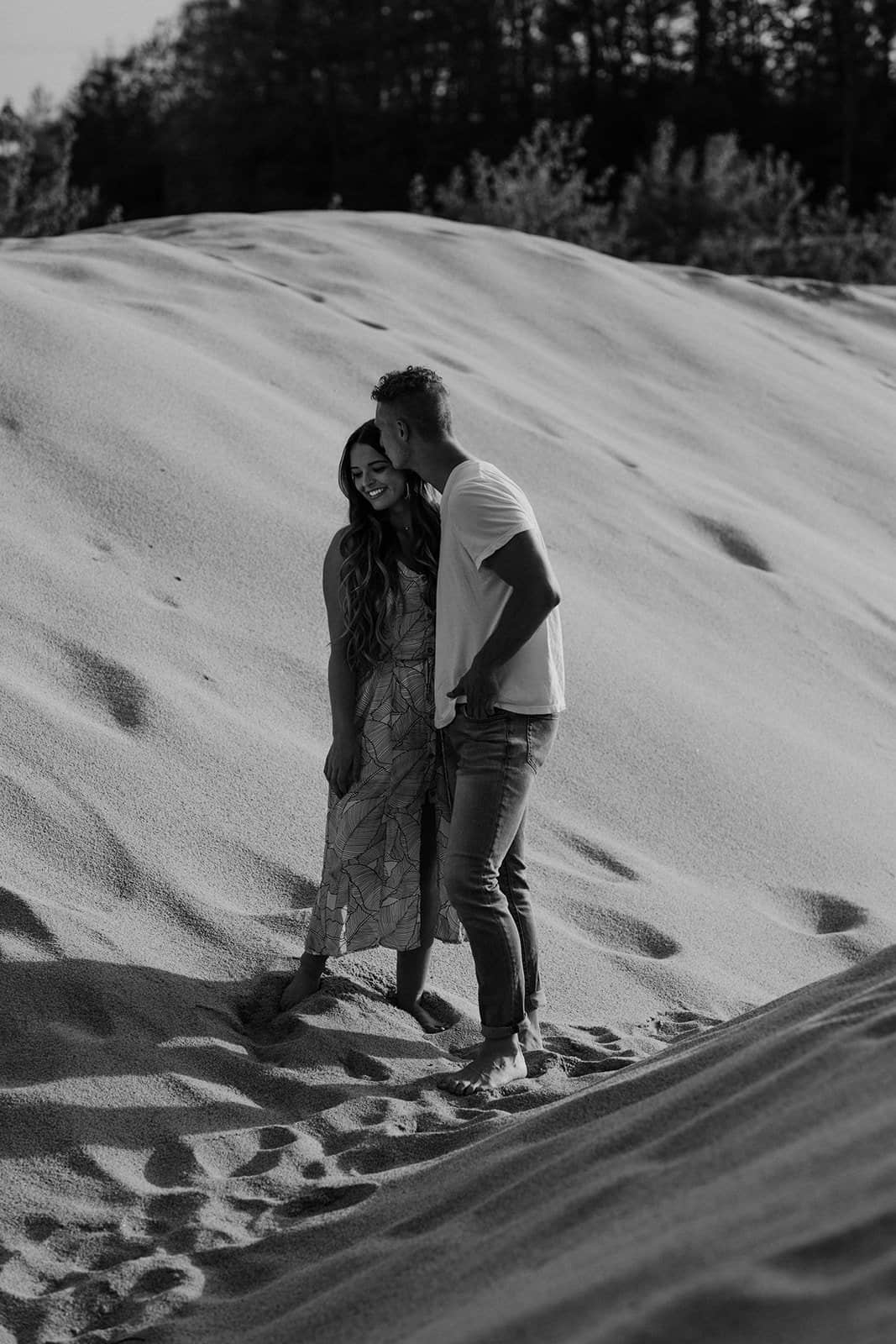 Ohio Sand Dunes Engagement | Addison + Morgan 170
