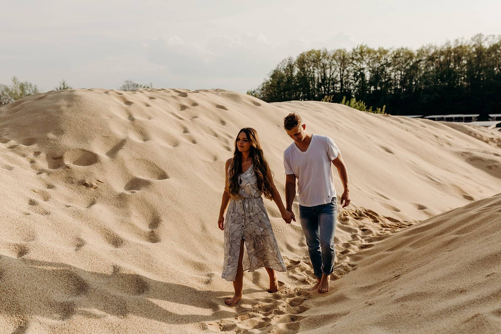 Ohio Sand Dunes Engagement | Addison + Morgan 171