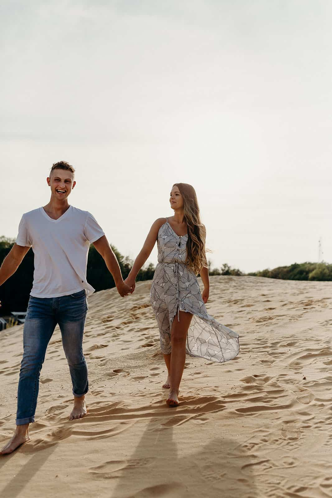 Ohio Sand Dunes Engagement | Addison + Morgan 150