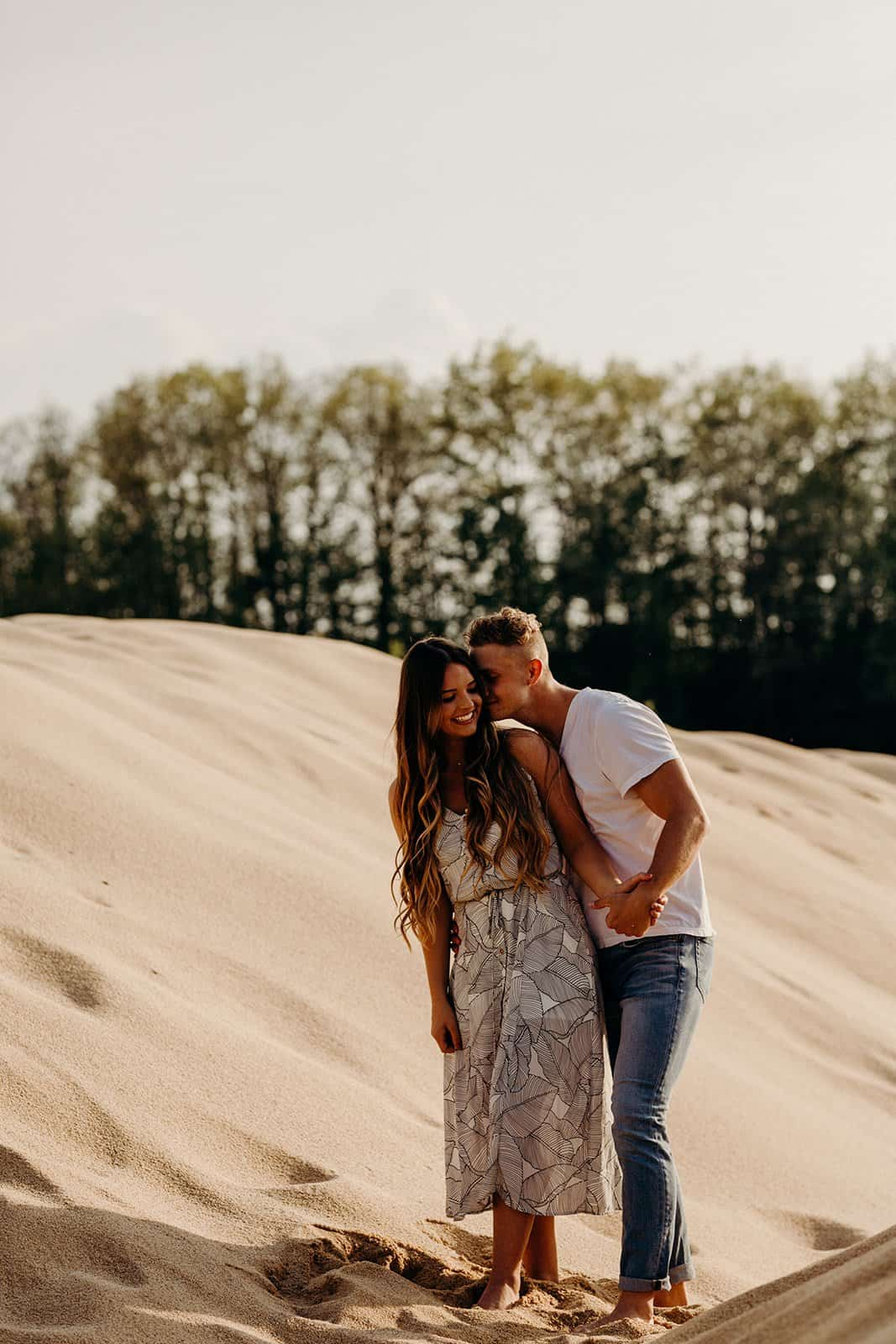 Ohio Sand Dunes Engagement | Addison + Morgan 173
