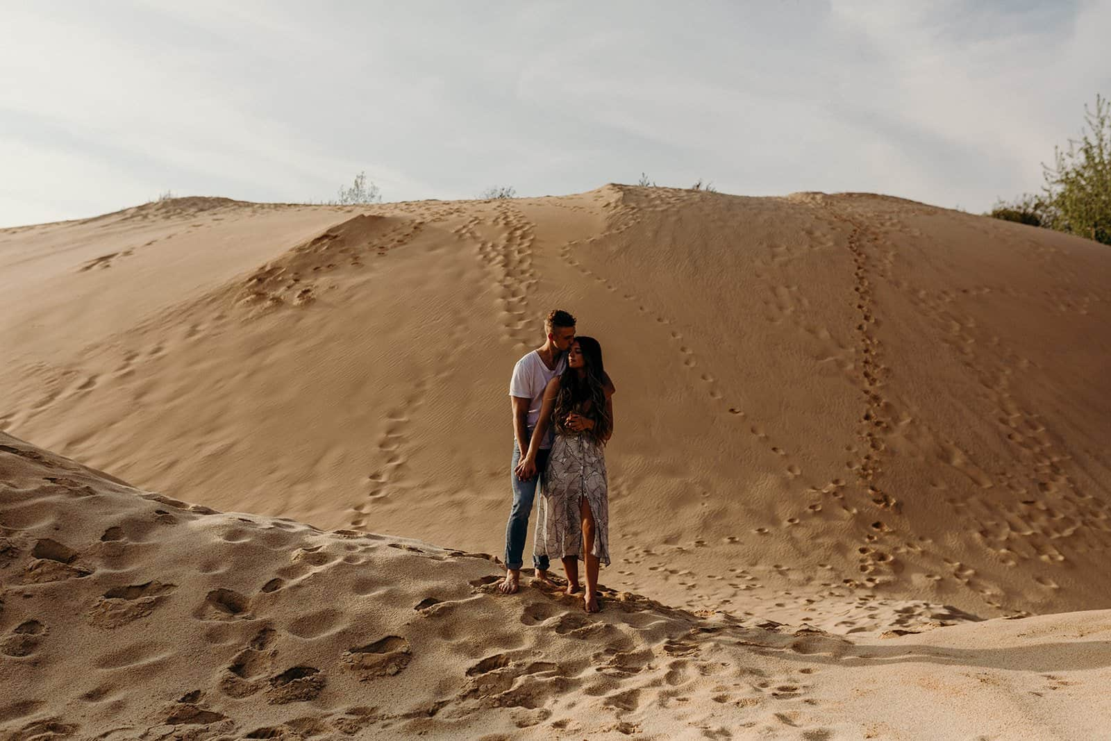 Ohio Sand Dunes Engagement | Addison + Morgan 174