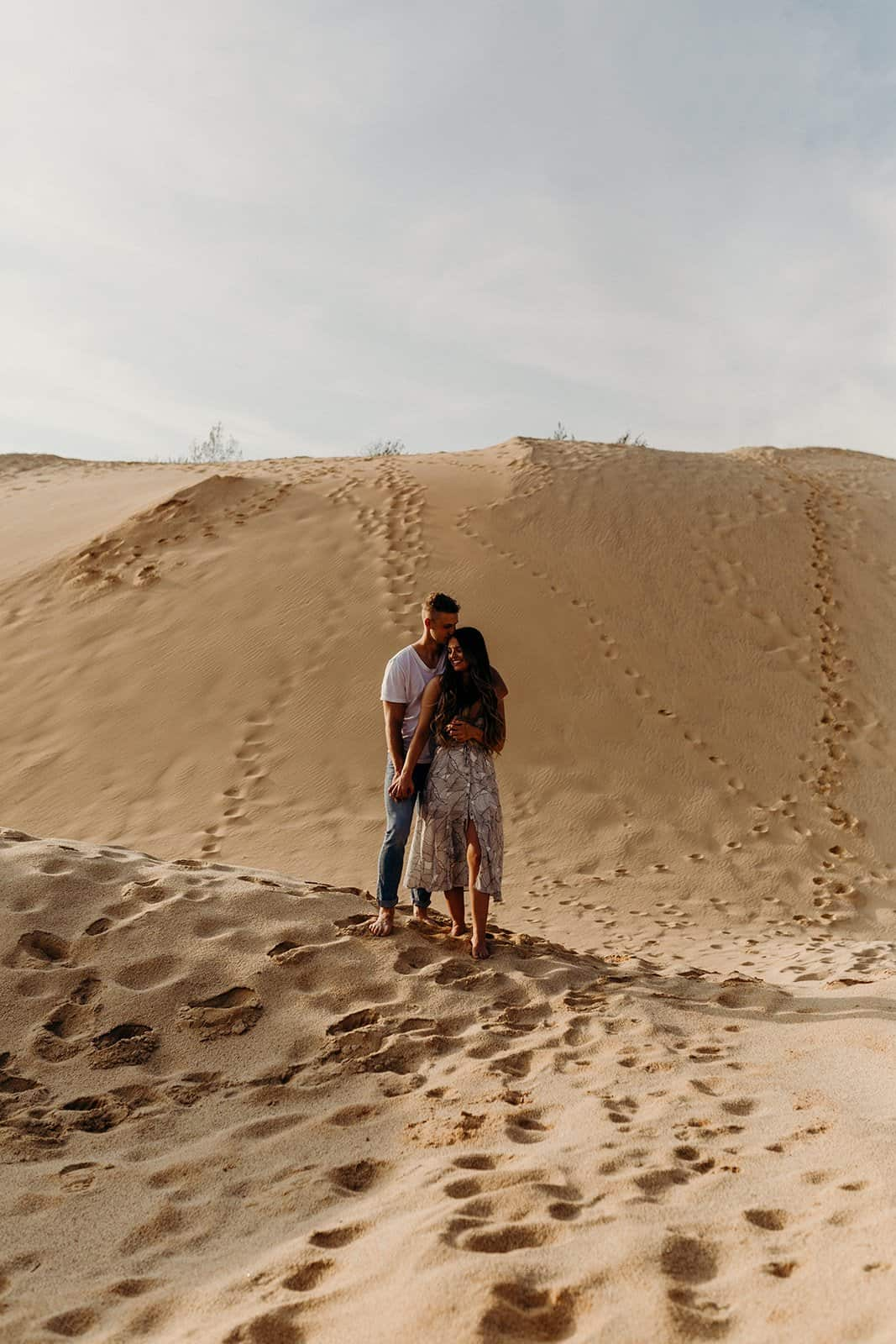 Ohio Sand Dunes Engagement | Addison + Morgan 175