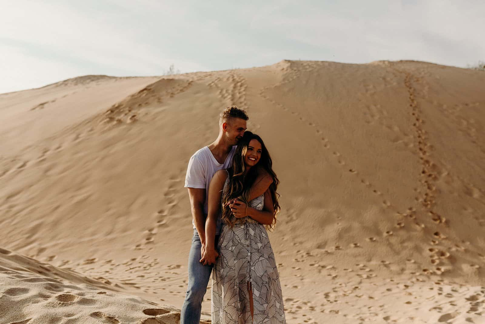 Ohio Sand Dunes Engagement | Addison + Morgan 176