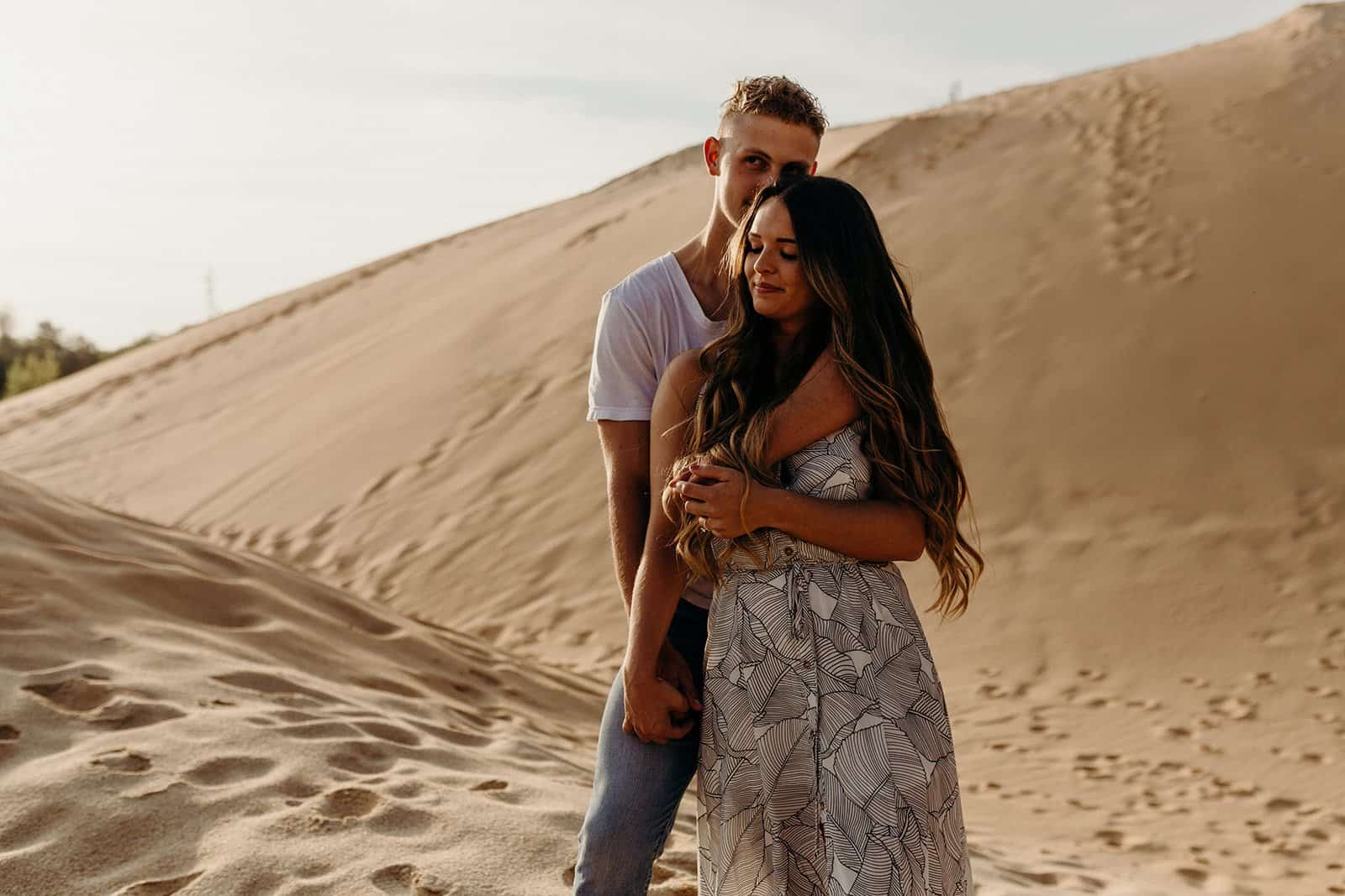 Ohio Sand Dunes Engagement | Addison + Morgan 177