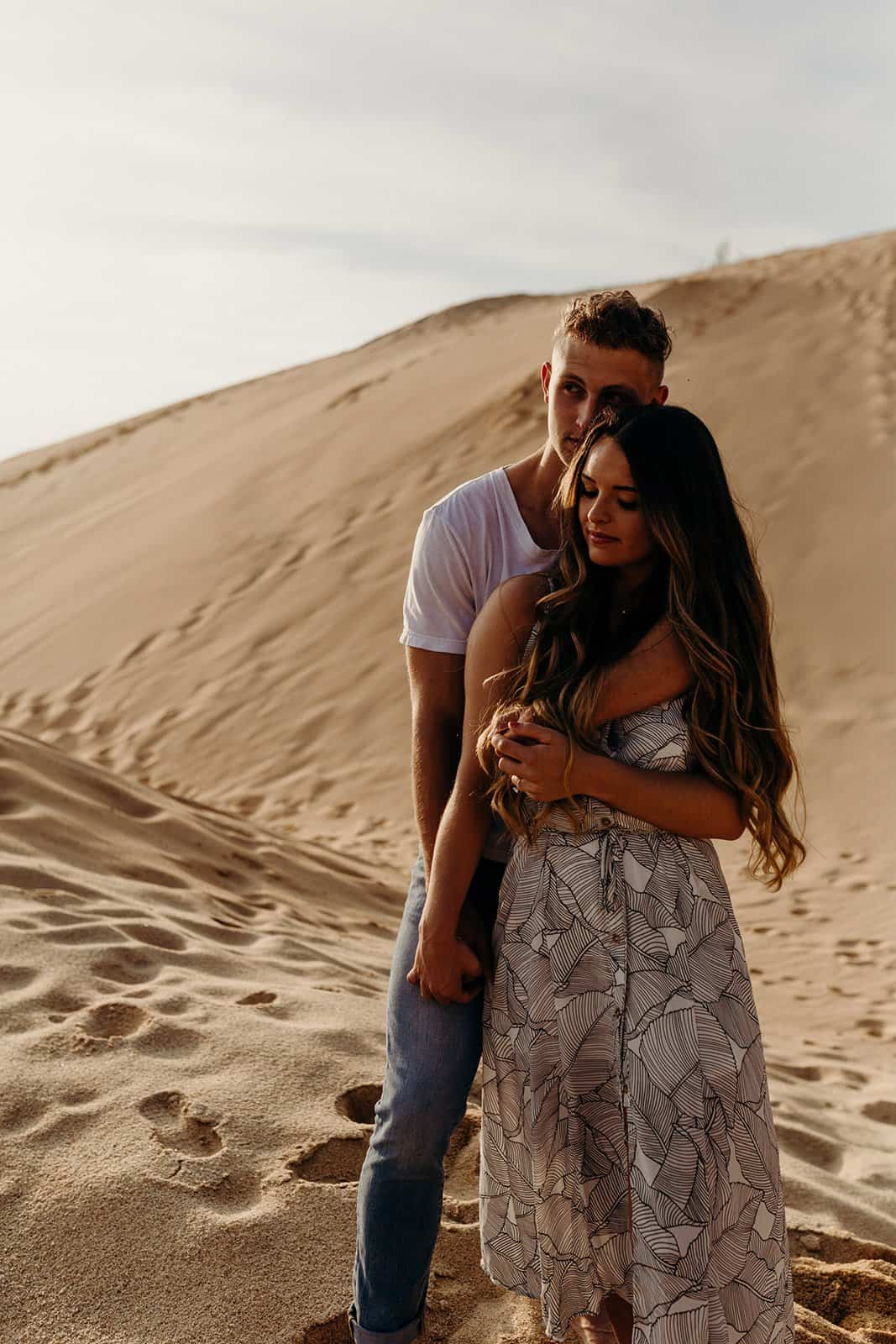 Ohio Sand Dunes Engagement | Addison + Morgan 178