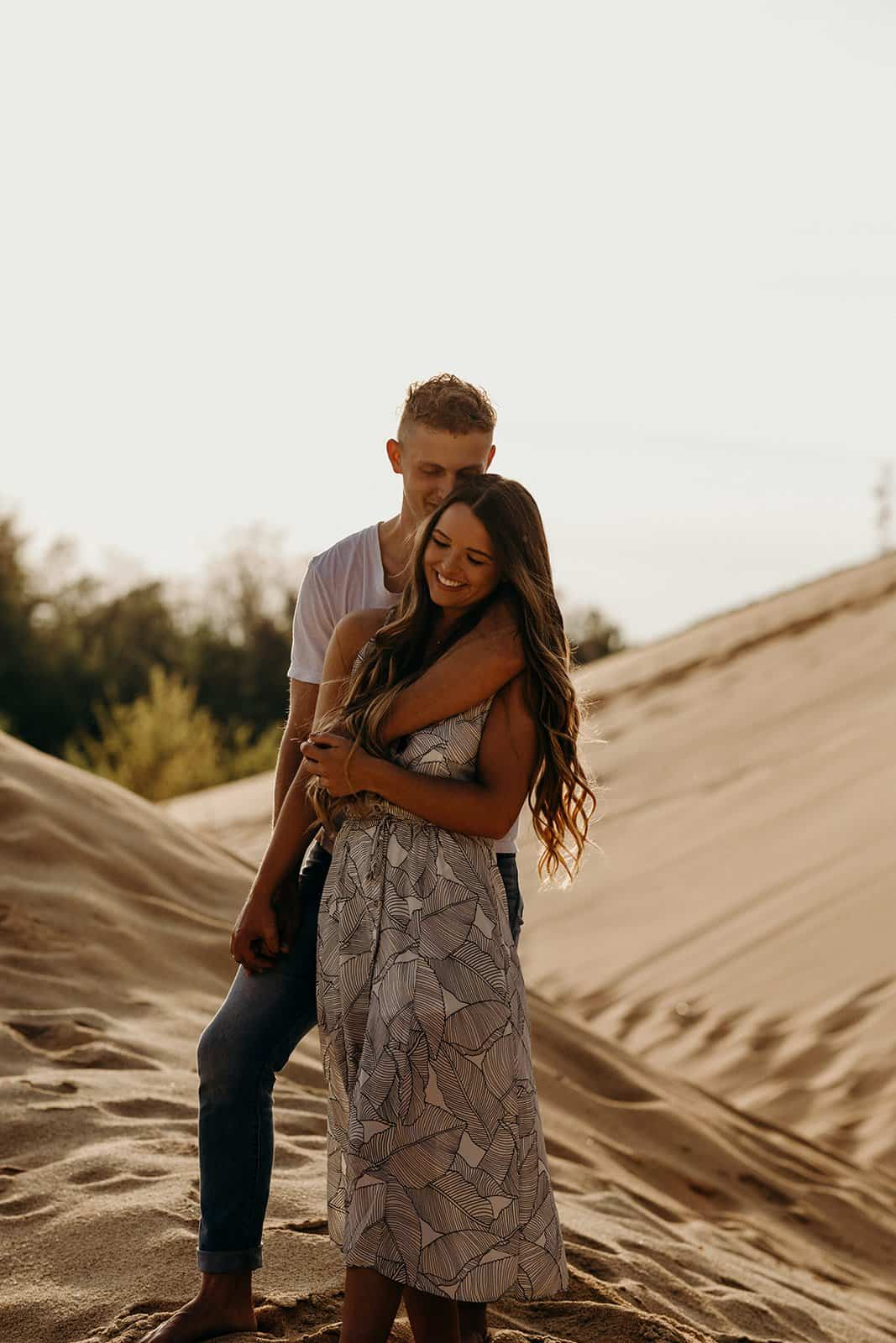 Ohio Sand Dunes Engagement | Addison + Morgan 183