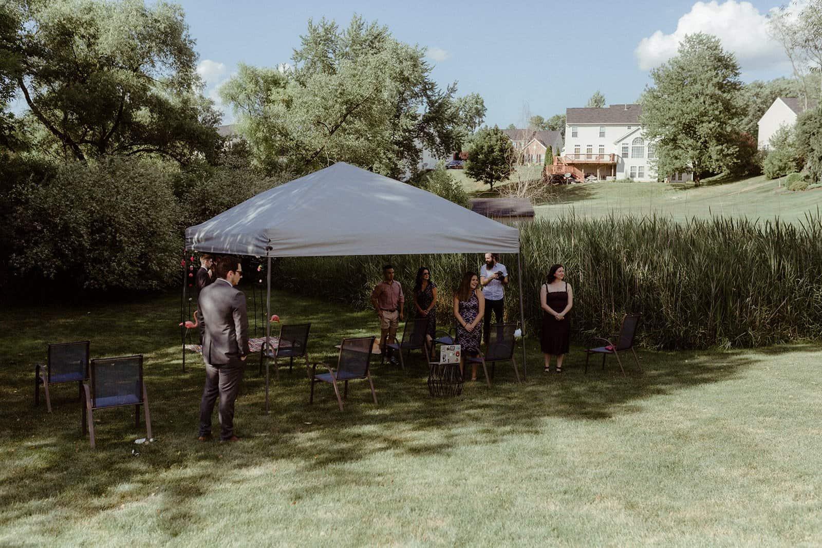 COVID-19 Backyard Wedding - WILLIAM + KAYLA 222