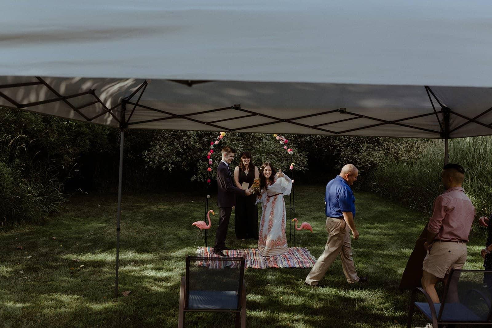 COVID-19 Backyard Wedding - WILLIAM + KAYLA 226