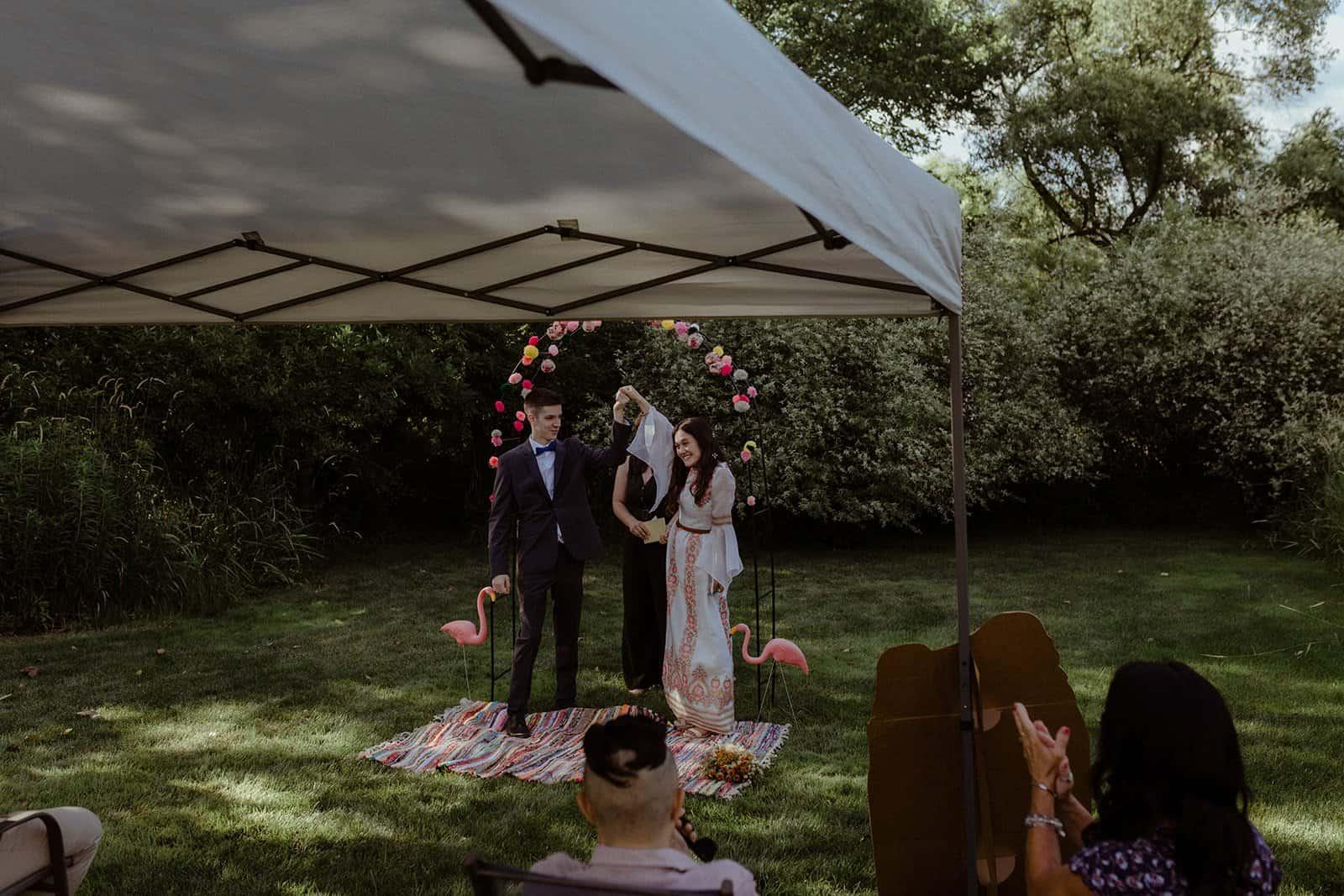 COVID-19 Backyard Wedding - WILLIAM + KAYLA 246